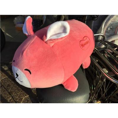 Mẫu nhỏ: Bé thỏ nhồi bông Huggies màu hồng cực yêu - Kt: (27 x 12 x 16) cm