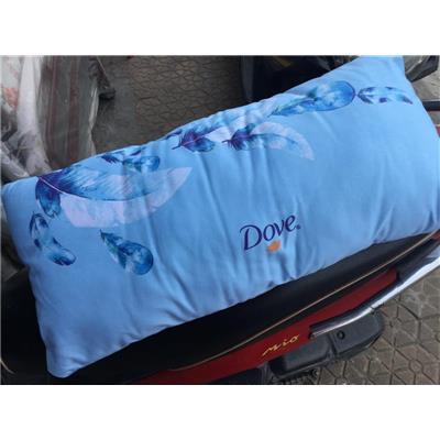 Gối chữ nhật Dove màu xanh in lông vũ - Kt: (60 x 30) cm