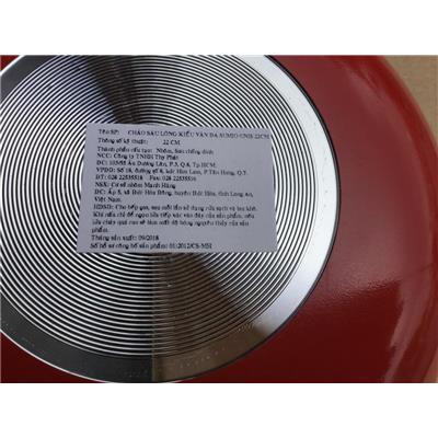 Chảo chống dính sâu lòng kiểu vân đá Sumio 1 quai cầm đường kính 22cm