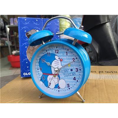 Xanh Doraemon: Đồng hồ báo thức để bàn cho bé cỡ lớn kèm pin, có đèn - Kt: (18 x 10 x 5.5) cm