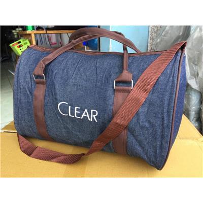 Túi xách du lịch Clear vải JEAN - Kích thước: (40 x 25 x 25) cm.