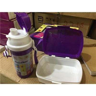 Bộ hộp cơm + bình nước Pediasure nhựa PP  Bo hop com + binh nuoc Pediasure nhua PP