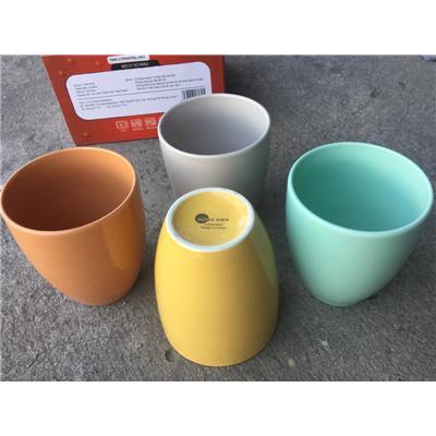 Bộ 4 ly sứ cao cấp Donghwa màu pastel tuyệt đẹp - Omo tặng  Bo 4 ly su cao cap Donghwa mau pastel tuyet dep - Omo tang