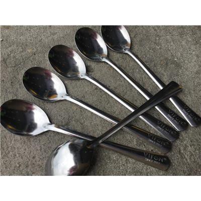 Lốc 6 muỗng inox VIFON ăn cơm - Muỗng dài 18.8 cm