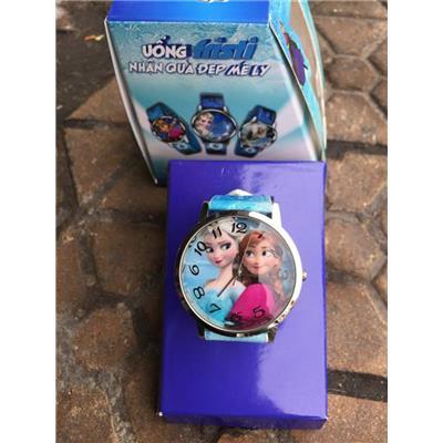 Elsa & Anna: Đồng hồ đeo tay hoạt hình Disney cho bé của sữa Fristi tặng - Made in Hong Kong