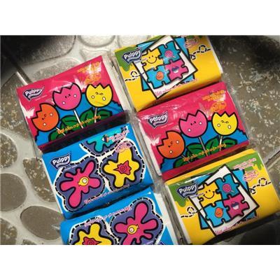 Lốc 6 bịch khăn giấy bỏ túi Pulppy 2 lớp hương trái cây - Date: 2021  Loc 6 bich khan giay bo tui Pulppy 2 lop huong trai cay - Date: 2021