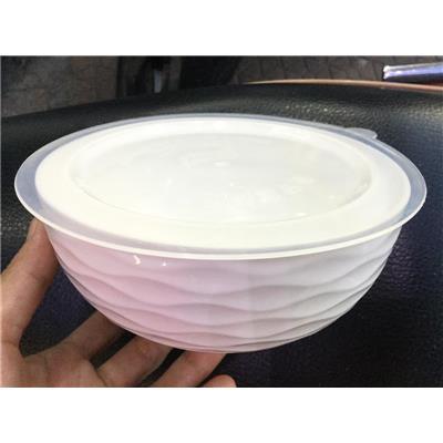 TÔ sứ trắng Knorr 6 inch CÓ NẮP nhựa kín - Kt: (15.8 x 15.8 x 7) cm  TO su trang Knorr 6 inch CO NAP nhua kin - Kt: (15.8 x 15.8 x 7) cm