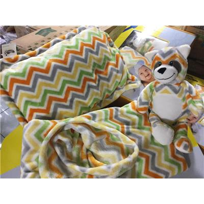 Bộ quà tặng mền + gối + gấu bông cao cấp Little Footprints của Friso tặng