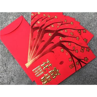 Xấp 6 bao lì xì đỏ nhũ vàng - Kt: (9.7 x 16.8) cm - Để thẳng tờ tiền 500 ngàn