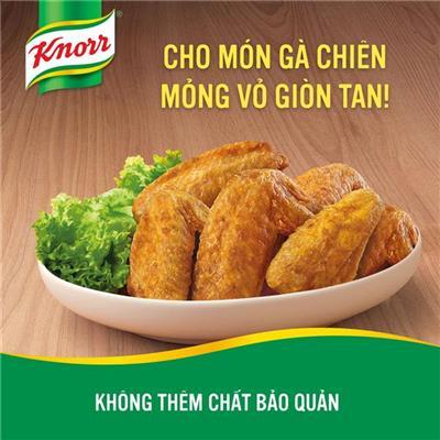 Gói bột chiên gà giòn Knorr gia vị hoàn chỉnh 30g - Dùng cho nửa ký gà - Date: 06/ 2019