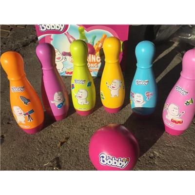 Bộ trò chơi bowling sắc màu Bobby bằng nhựa cho bé