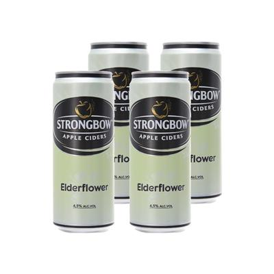 4 lon nước ép táo lên men vị hoa Elder (330ml x 4) - StrongBow Apple Ciders ELDERFLOWER - Date xa  4 lon nuoc ep tao len men vi hoa Elder (330ml x 4) - StrongBow Apple Ciders ELDERFLOWER - Date xa