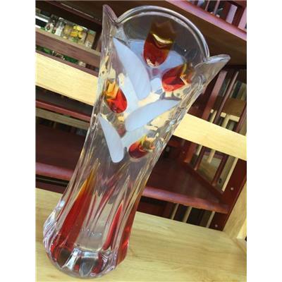 Bình cắm hoa thủy tinh màu miệng loe cao 25 cm, có hộp - Bình lớn thích hợp cắm hoa Ly, Huệ, Lay ơn...