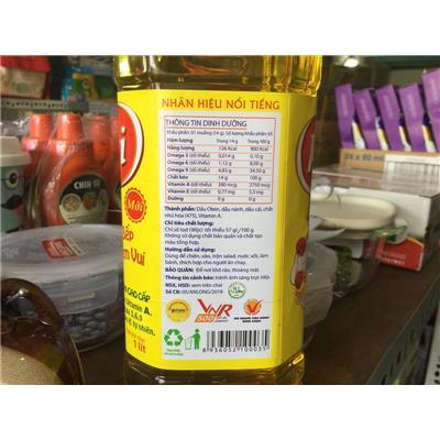 Chai dầu ăn Happi Koki 1 lít - Date: 12/ 2020  Chai dau an Happi Koki 1 lit - Date: 12/ 2020