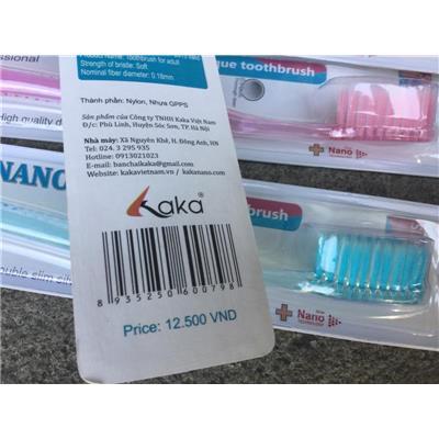 Bàn chải đánh răng KAKA NANO - Giao màu ngẫu nhiên