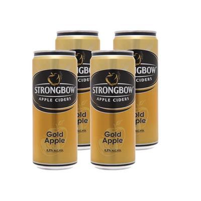 4 lon nước ép táo lên men vị TÁO NGUYÊN BẢN (330ml x 4) - StrongBow Apple Ciders GOLD APPLE - Date xa (Không sỉ)