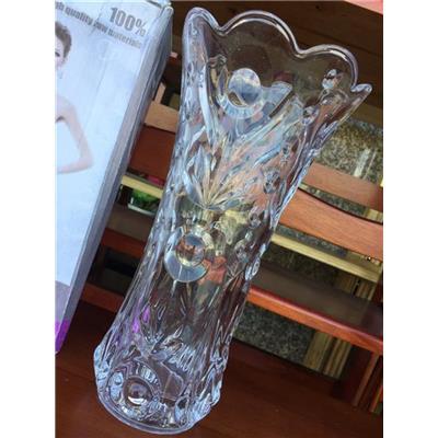 Bình cắm hoa thủy tinh TRẮNG miệng loe cao 25 cm, có hộp - BÌNH LỚN thích hợp cắm hoa Ly, Huệ, Lay ơn...(HỘP CÔ GÁI)
