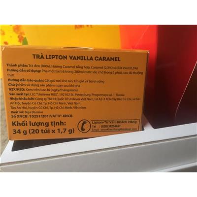Hộp quà TRÀ LIPTON cao cấp 3 vị: Green Gunpowder + Vanilla Caramel + Peach Mango - DATE: 28/07/2019 (KHÔNG SỈ)