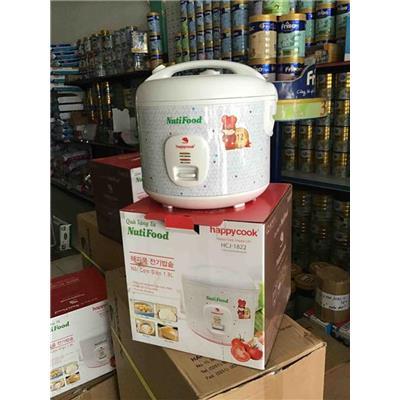 Nồi Cơm Điện Nắp Gài 1.8 Lít Happy Cook HCJ1822 - Nutifood tặng có logo  Noi Com Dien Nap Gai 1.8 Lit Happy Cook HCJ1822 - Nutifood tang co logo