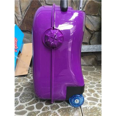 Vali kéo Abbott bằng nhựa cho bé MÀU TÍM - Kt: (45 x 33 x 20) cm