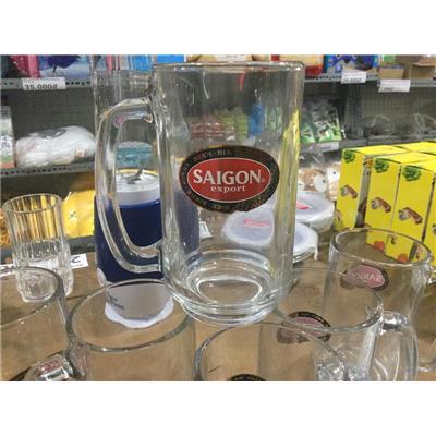 Bộ 6 ly thủy tinh uống bia Thái Lan 400ml có quai - BIA SÀI GÒN TẶNG  Bo 6 ly thuy tinh uong bia Thai Lan 400ml co quai - BIA SAI GON TANG