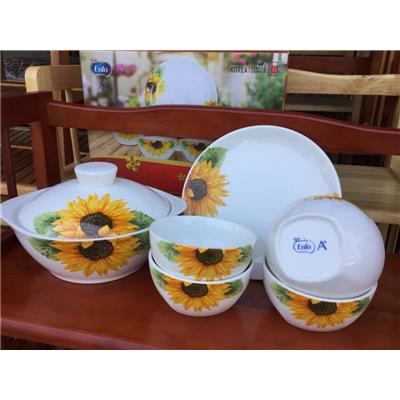 Bộ bàn ăn 6 món cao cấp Dong Hwa HOA HƯỚNG DƯƠNG - Sữa Enfa tặng (Thích hợp tặng 8/3)