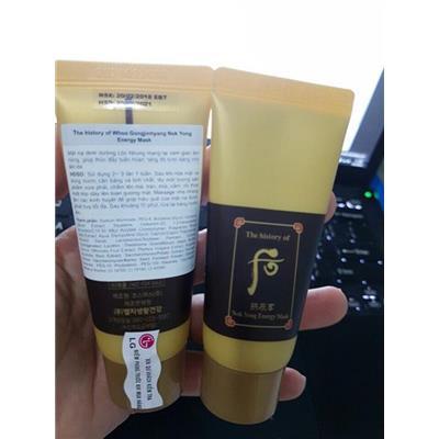 Whoo Nok Yong Pack - Tuýp mặt nạ nóng Whoo chứa mật ong và lộc nhung 30ml