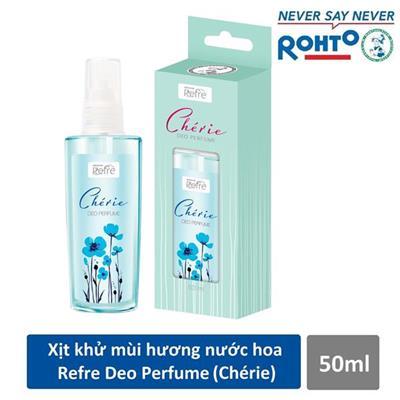 Chai xịt khử mùi toàn thân hương nước hoa Rohto REFRE DEO PERFUME CHÉRIE 50ml - Date: 2020
