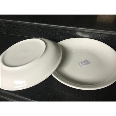 Bộ 2 dĩa sứ trắng đường kính 8.2 inch - Kt: (21 x 21 x 3) cm