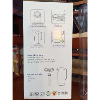 Bình nước Detox 2 lít nhựa Đại Đồng Tiến L1645 có lõi lọc  Binh nuoc Detox 2 lit nhua Dai Dong Tien L1645 co loi loc