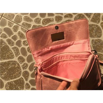 Túi xách đeo chéo Pond's SIMILI JEAN màu hồng - Kt: (24 x 16.5 x 7) cm  Tui xach deo cheo Pond's SIMILI JEAN mau hong - Kt: (24 x 16.5 x 7) cm