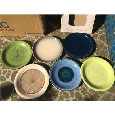 Bộ 2 dĩa sứ sắc màu 7.5 in Unilever - Kt: (19 x 2) cm