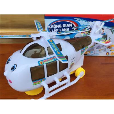 Đồ chơi trực thăng chiến đấu Nutifood có nhạc, đèn - Tặng kèm pin
