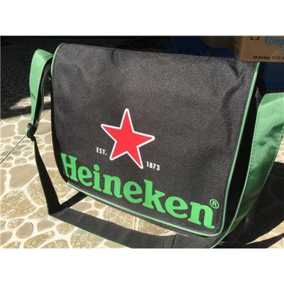 Túi xách đeo chéo nhiều ngăn đẳng cấp Heineken - Kt: (42 x 34 x 17