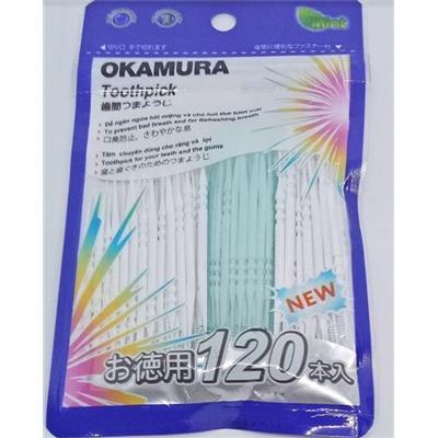 Gói 120 cây tăm nhựa Nhật Bản Okamura