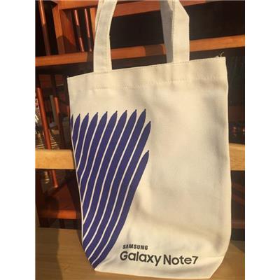 Túi xách chữ nhật dáng đứng vải bố SAMSUNG tặng - Kt: (35 x 26 x 9) cm