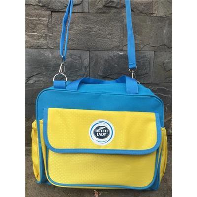 Túi xách Dutch Lady dạng hộp nhiều ngăn màu VÀNG XANH - Kt: (29 x 12 x 22) cm