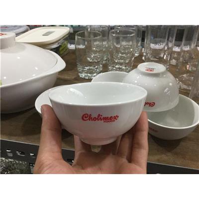Bộ 5 chén sứ trắng cỡ nhỏ 3.5 inch, CHOLIMEX tặng - Kt: (8 x 8 x 5) cm