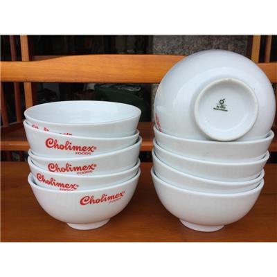 Lốc 10 chén cơm Cholimex 4.5 inch - Kt: (11.5 x 11.5 x 5.2) cm