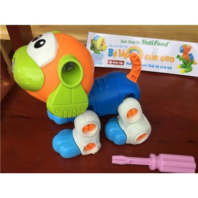 Bộ đồ chơi lắp ráp cún con Nutifood - Kt: (13 x 10 x 9) cm