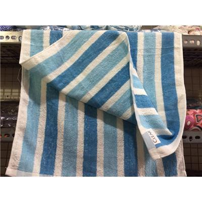 Khăn CLEAR cỡ lớn SỌC trắng xanh - Kt: (100 x 50) cm