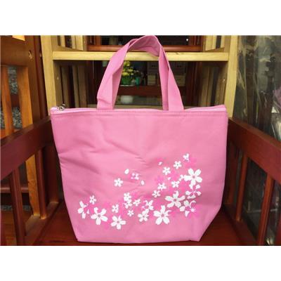 Túi giữ nhiệt UNICHARM HỒNG in hoa - Kt: (30 x 22 x 9) cm