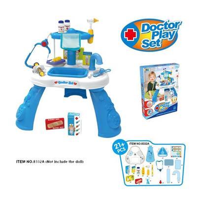 Bộ đồ chơi bác sĩ Enfa 21 chi tiết MÀU XANH - ITEM NO.8332A
