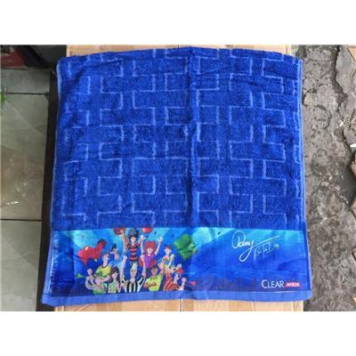Khăn tắm cỡ lớn Clear Men MÀU XANH có chữ ký Bùi Tiến Dũng - KT: (100 x 50)cm