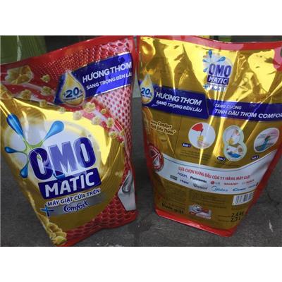 (KHÔNG SỈ) Túi nước giặt Omo Matic Comfort cửa trên 2.4kg - Date: 2021