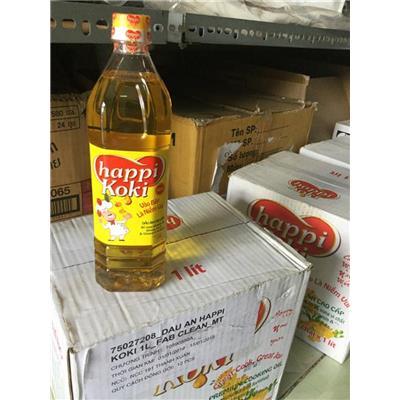 (KHÔNG SỈ) Chai dầu ăn Happi Koki 1 lít - Date: 2021