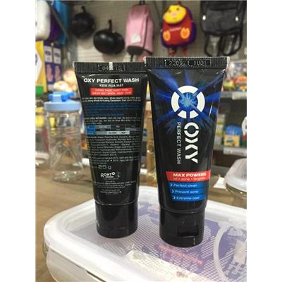 OXY Perfect Wash 25g - Kem rửa mặt, sạch bã nhờn, ngừa khuẩn mụn - Date: 2021