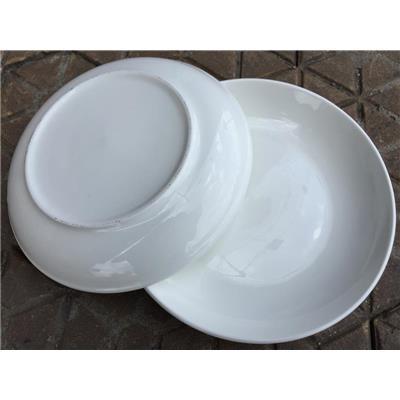 Bộ 2 dĩa sứ trắng đường kính 9 inch - Kt: (22 x 22 x 2) cm - HỘP COMFORT
