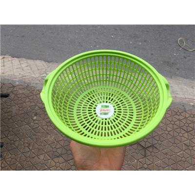 Rổ quai mini Knorr XANH LÁ nhựa Tân Lập Thành - Kt: (24 x 22.5 x 8)cm