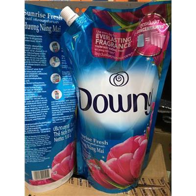 (KHÔNG SỈ) Túi nước xả đậm đặc DOWNY 1.6 lít XANH hương nắng mai, có vòi rót - Date mới